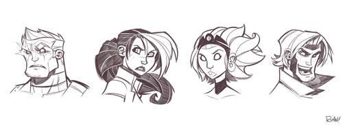 X-Men Sketches Round 2 by frogbillgo