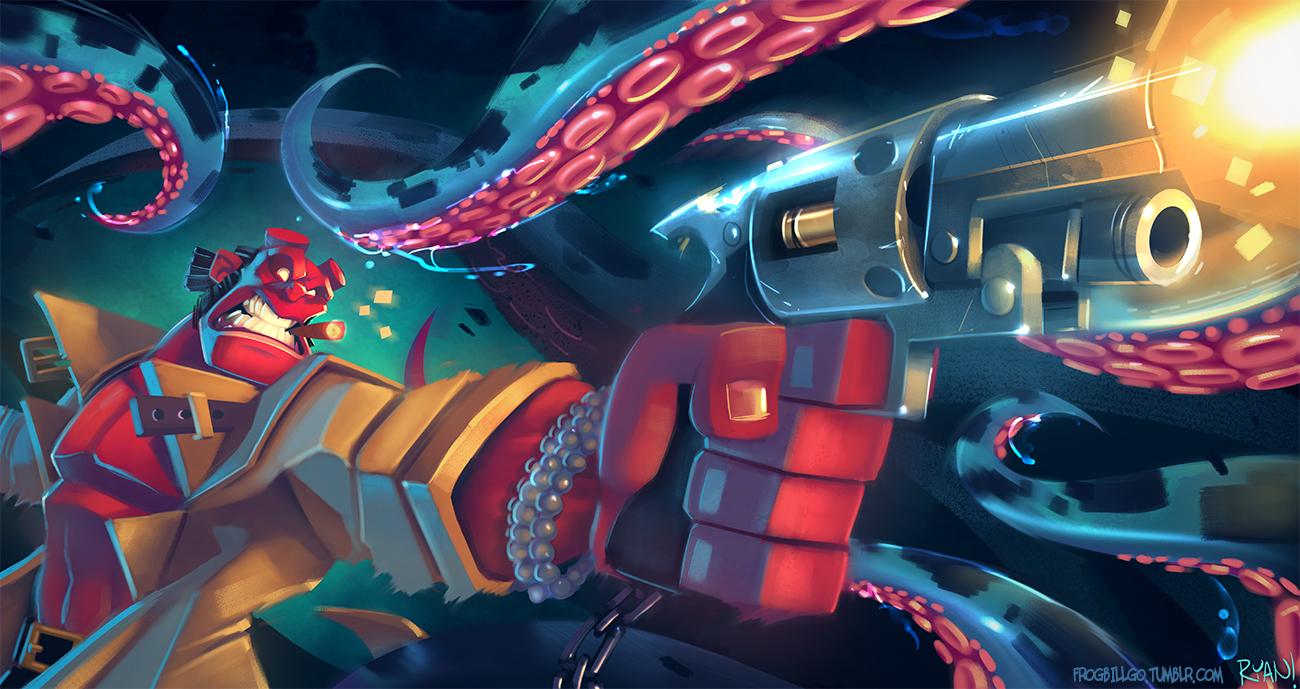 Hellboy by frogbillgo