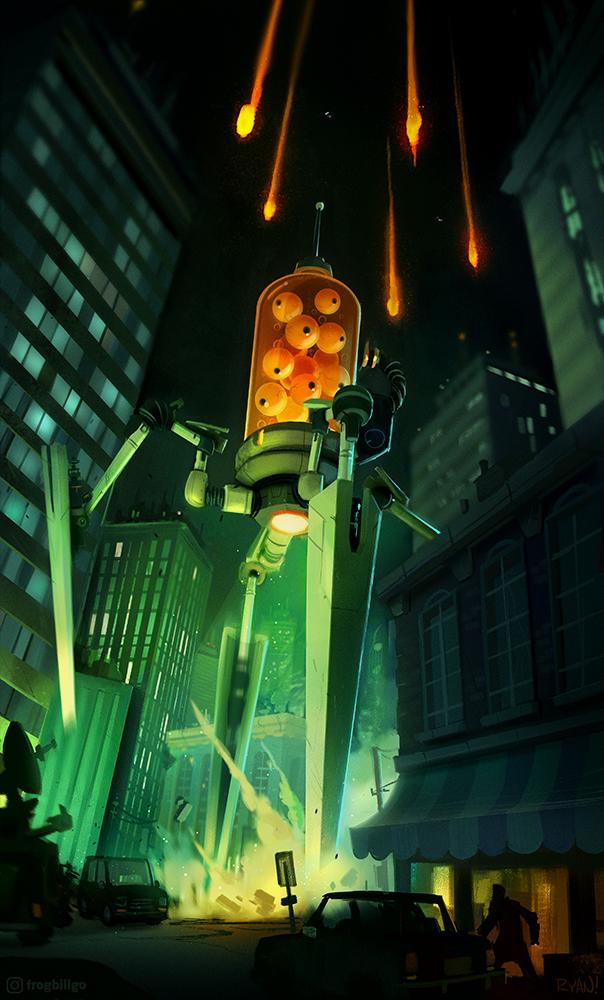 Alien Invasion! by frogbillgo