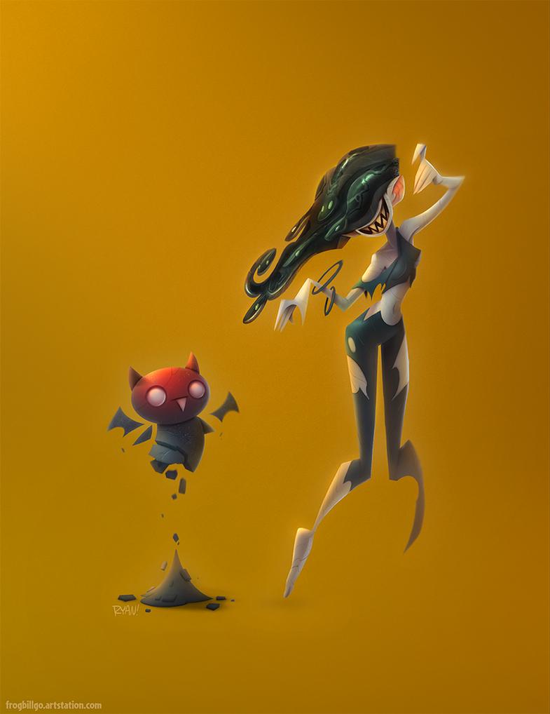 Medusa Stare Paints by frogbillgo