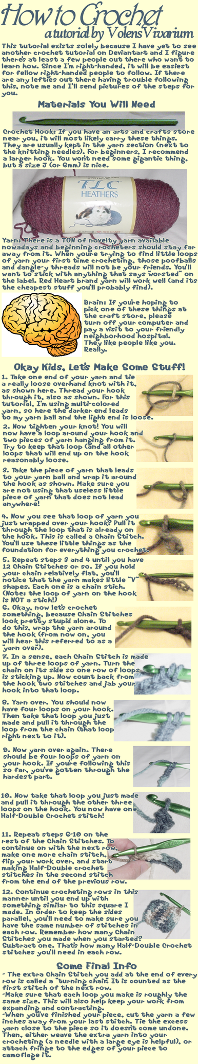How to Crochet by VolensVivarium