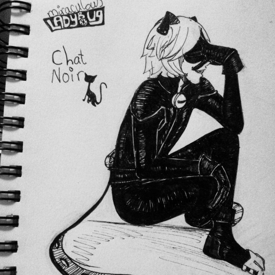 Chat noir Adrian Agreste by watashiWaKazedesu