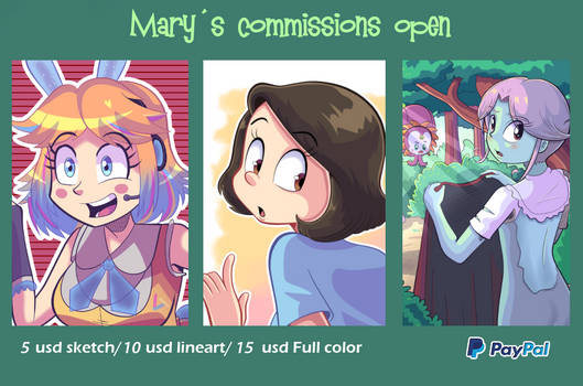 Commissions Open + NSFW commissions