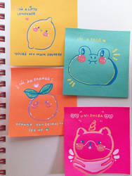 little post-it sketches by Pyreila