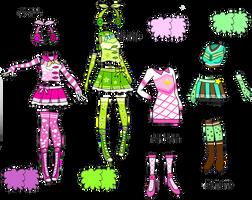 Splatoon Cheerleader Uniforms by Enlightened-Titan