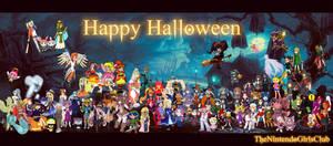 Nintendo Girls Halloween Collab by Enlightened-Titan