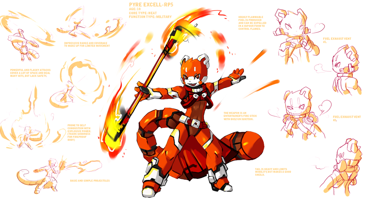 Character concept: Pyre by Ryanide