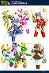 Dendyn Dynasties-heroes