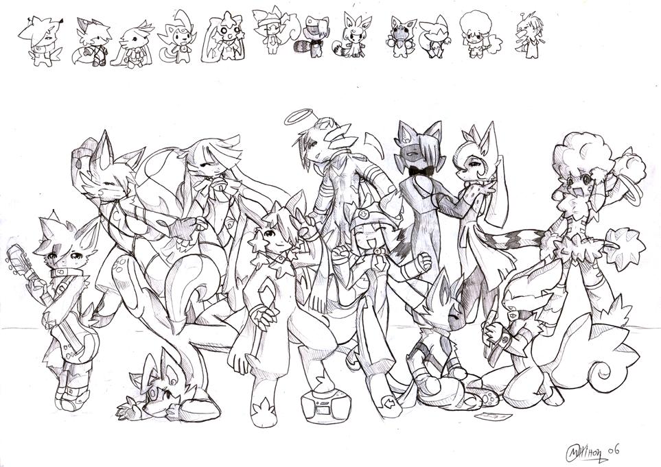 Rave Battle cast-uncoloured