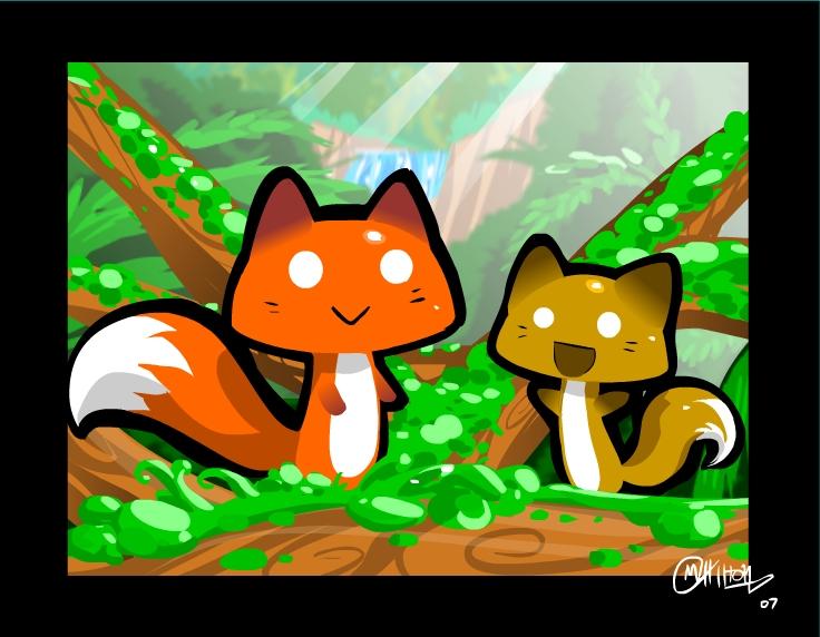Fox mushrooms by Ryanide