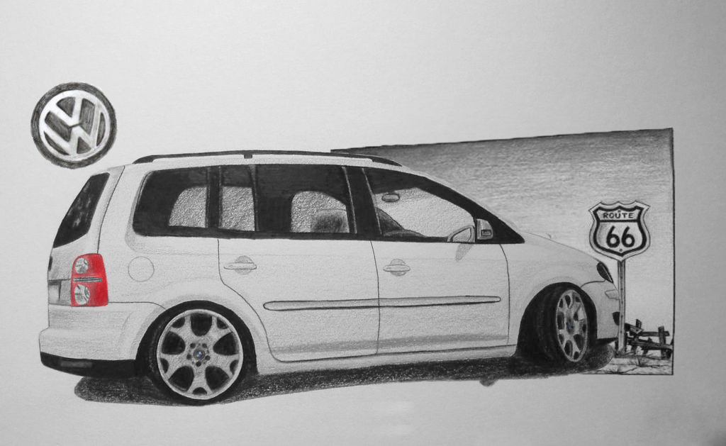 volkswagen touran drawing by hary1908