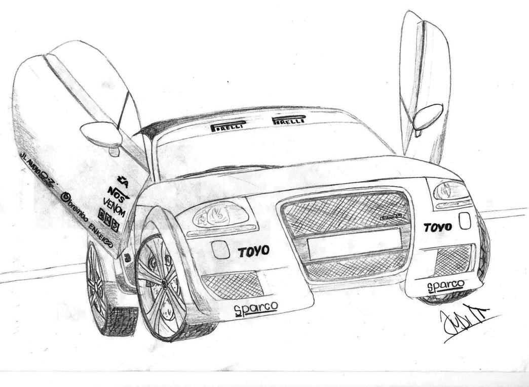 audi tt drawing by hary1908 on deviantart