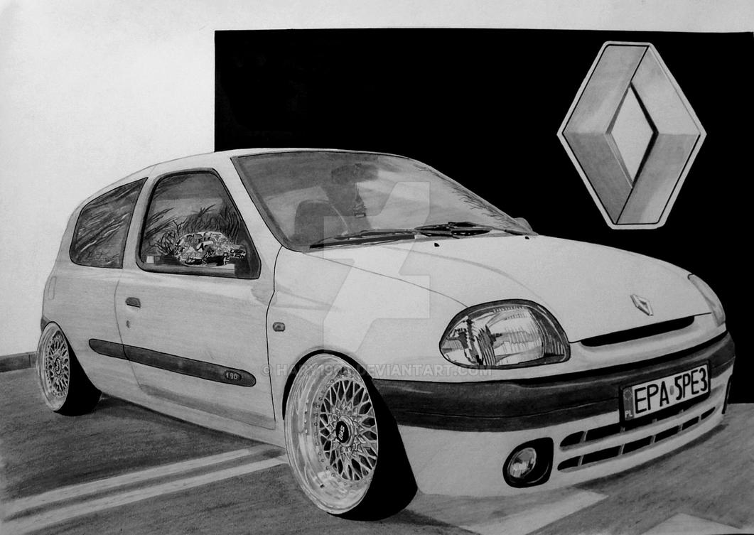 reanaul clio ii on bbs rs drawing by hary1908 on deviantart. Black Bedroom Furniture Sets. Home Design Ideas
