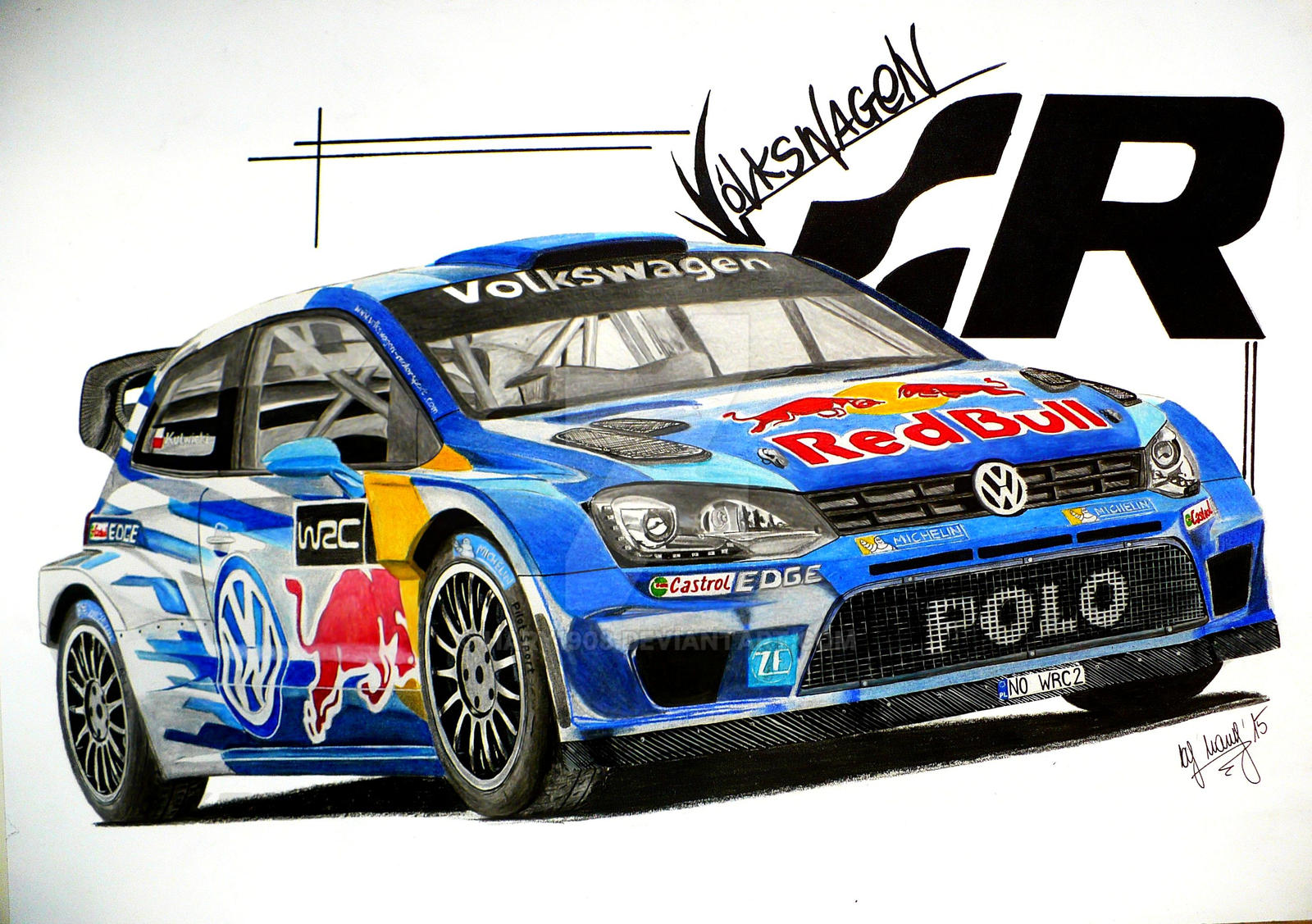 volkswagen polo r wrc 2015 drawing by hary1908 on deviantart. Black Bedroom Furniture Sets. Home Design Ideas