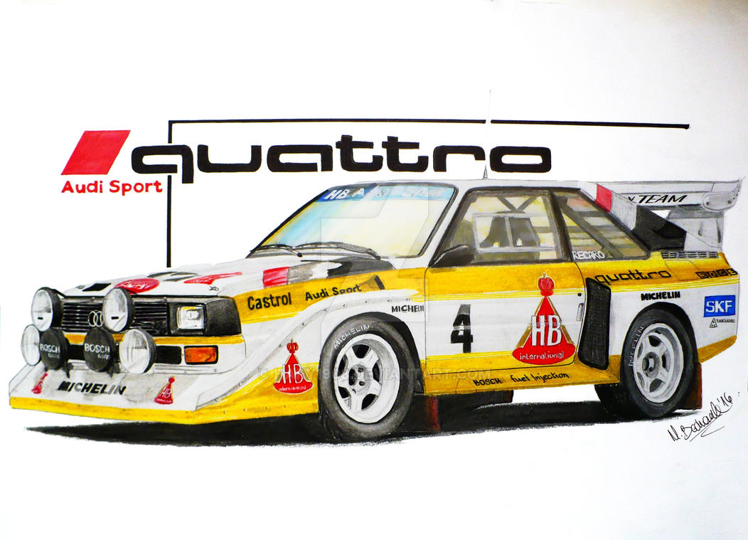 Audi Quattro S1 Drawing By Hary1908 On Deviantart