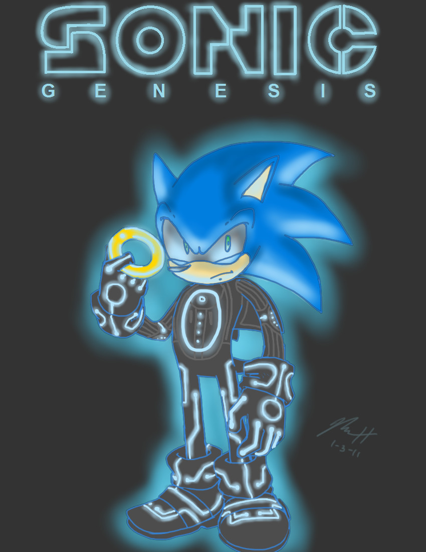 Sonic - TRON Mockup by Aerobian-Angel