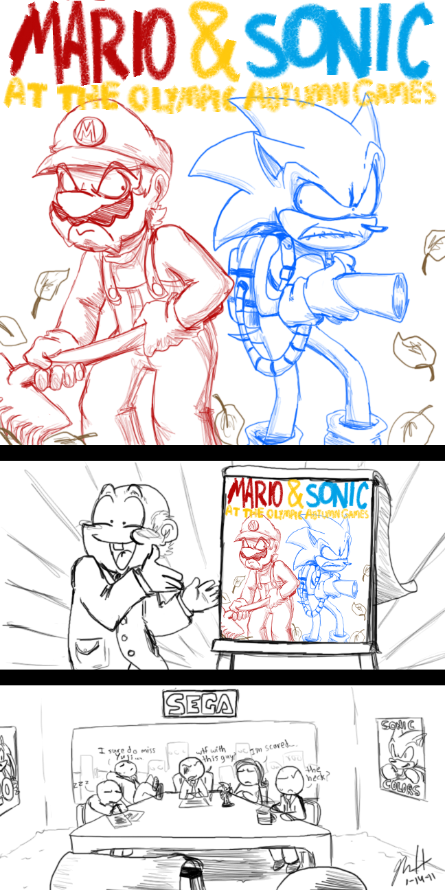 New Mario and Sonic Game by Aerobian-Angel