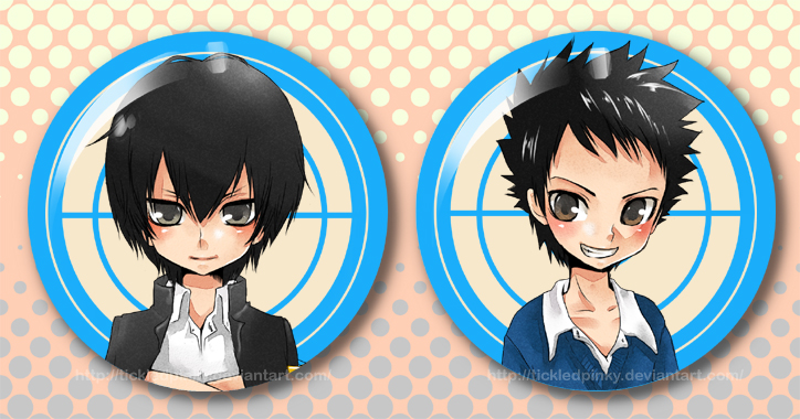 KHR Buttons:Hibari + Yamamoto by tickledpinky