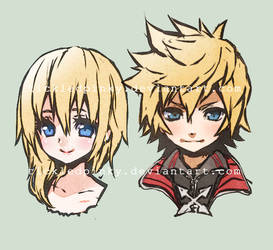 Roxas and Namine doodle