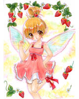 Strawberry fairy by tickledpinky