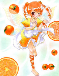 Orange Fairy by tickledpinky