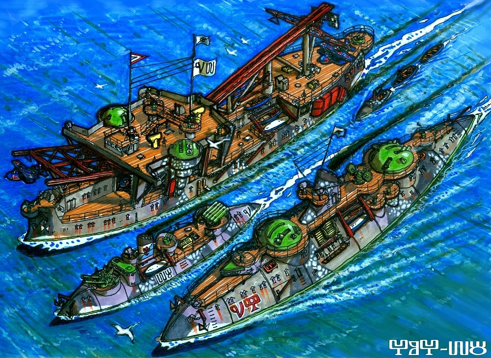 Marbanian Inshore Squadron by wingsofwrath
