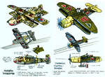 Inner Space fighter designs