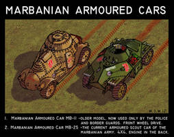 Marbanian Armoured Cars by wingsofwrath