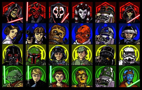 Star Wars game pieces