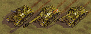 Tambrian MBT, heavy TD and AA vehicle DETAIL