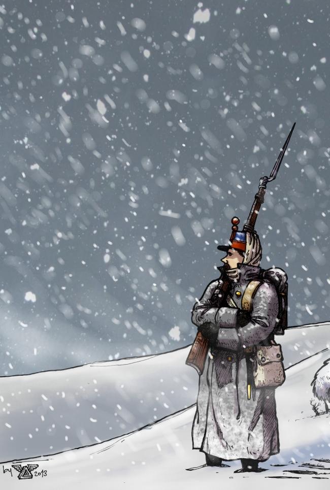Soldier In The Snow 1877 by wingsofwrath