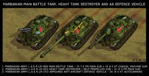Marbanian MBT, heavy TD and armoured AA vehicle