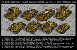 Tambrian Light Tanks by wingsofwrath