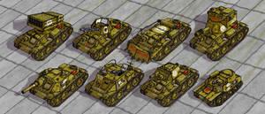 Tambrian Light Tanks DETAIL by wingsofwrath