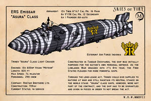 Asura Class Cruiser by wingsofwrath