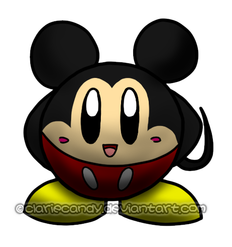 Mickey Mouse Kirby by clariecandy