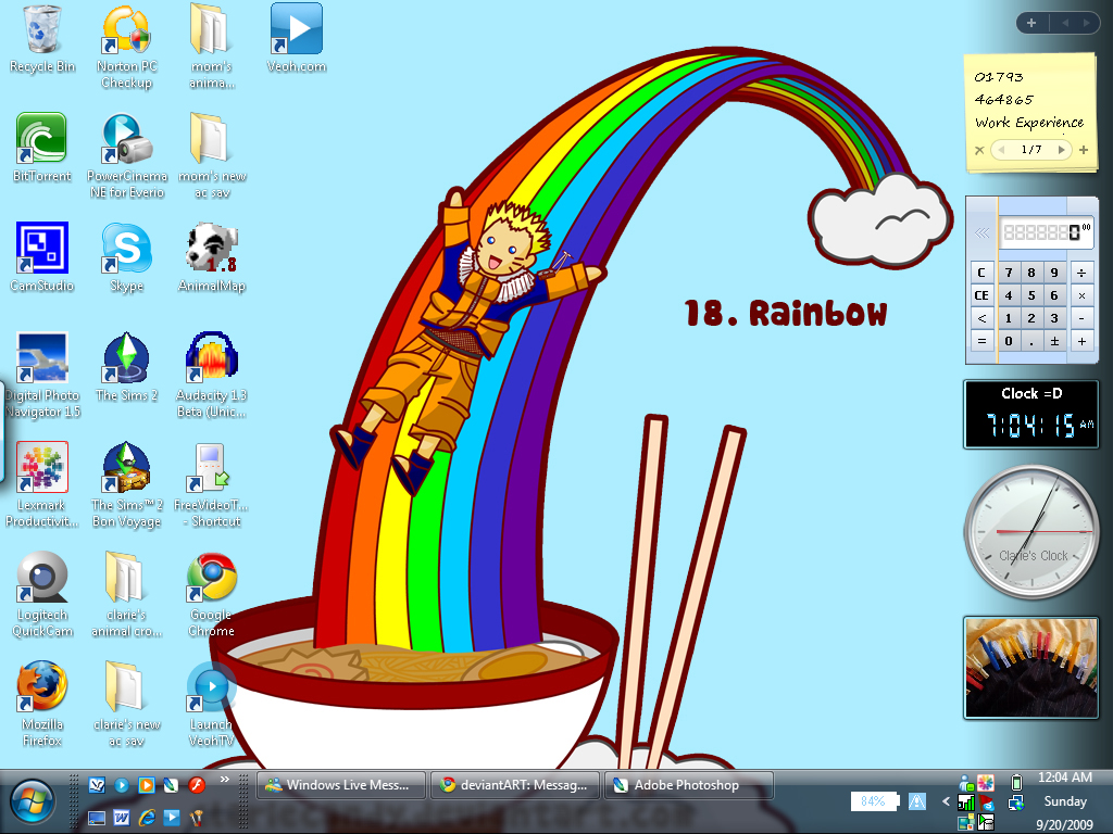 Desktop :D by clariecandy