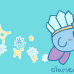 Ice Kirby by clariecandy