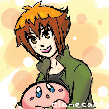 Judai and Kirby by clariecandy