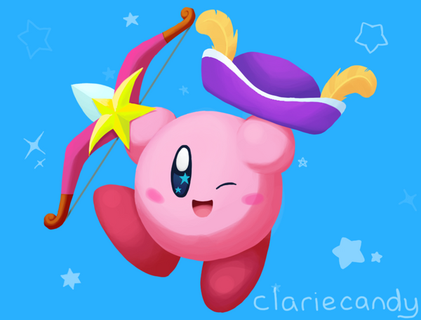 Sniper Kirby! by clariecandy