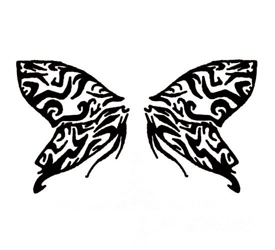 Tribal Butterfly Wings Tattoo by ariathegoddess1 on DeviantArt