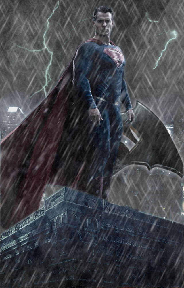Batman v Superman Character Poster - SUPERMAN by RedHood2913