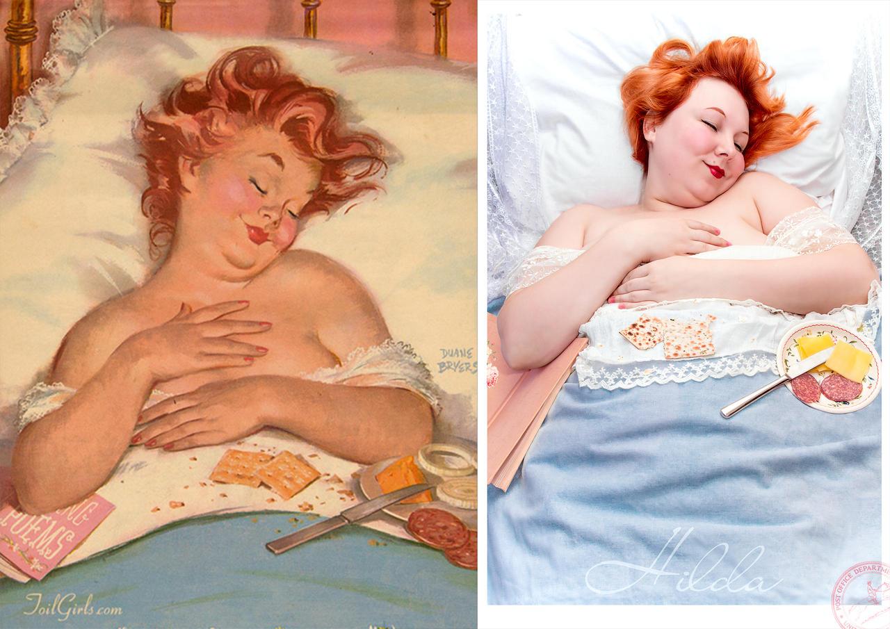 Sleeping Hilda by La-Clover