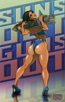 Sun's Out Guns Out - Pharah (Overwatch by FlannaganTheRed