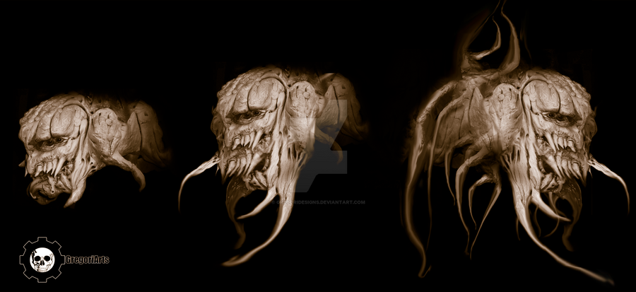 excavator creature concept evolution by gregoridesigns