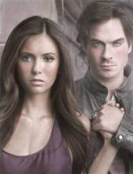 Elena+Damon - Vampire diaries by Eileen9