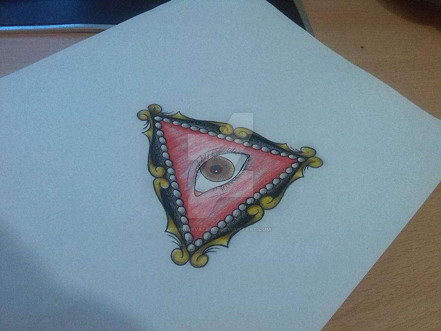 all seeing eye inspired custom tattoo design by EdgarValerio