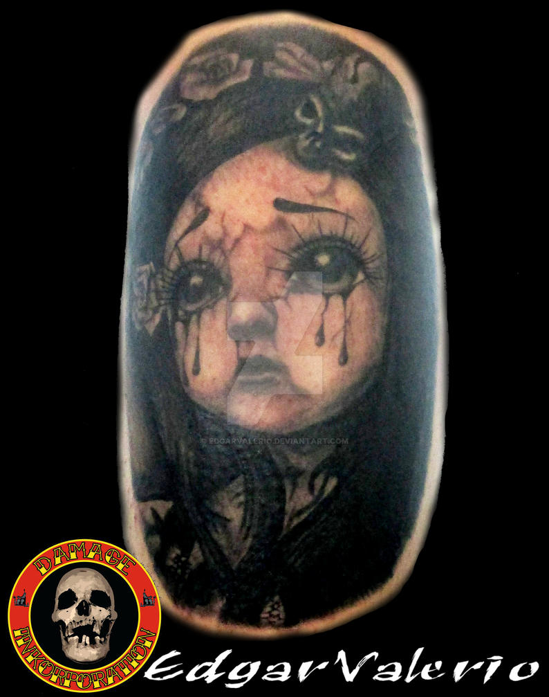 Dark Doll Tattoo by EdgarValerio