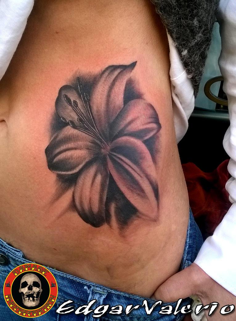 Flower tattoo by EdgarValerio