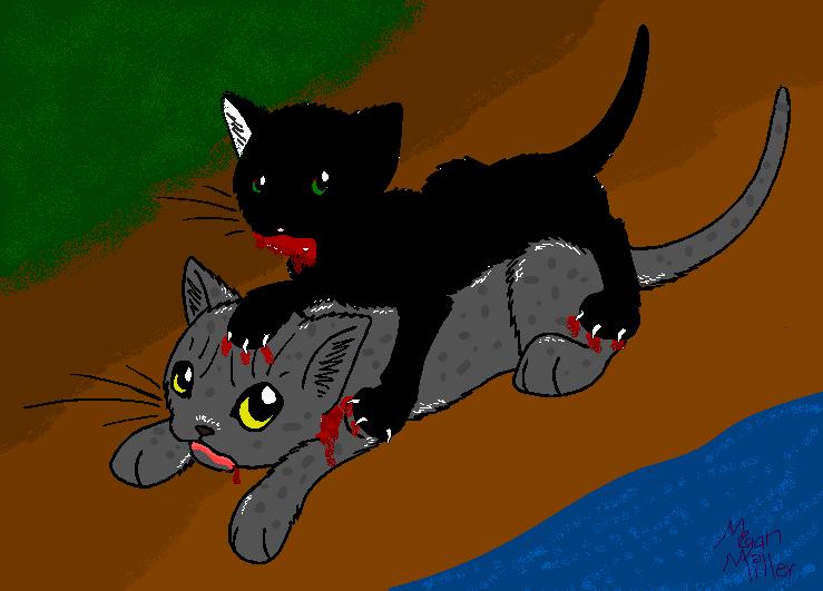 Hollyleaf killing Ashfur by Shadetiger on DeviantArt